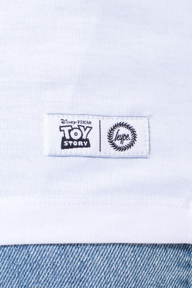 HYPE TOY STORY WHITE POSTER BACK PRINT KIDS T-SHIRT