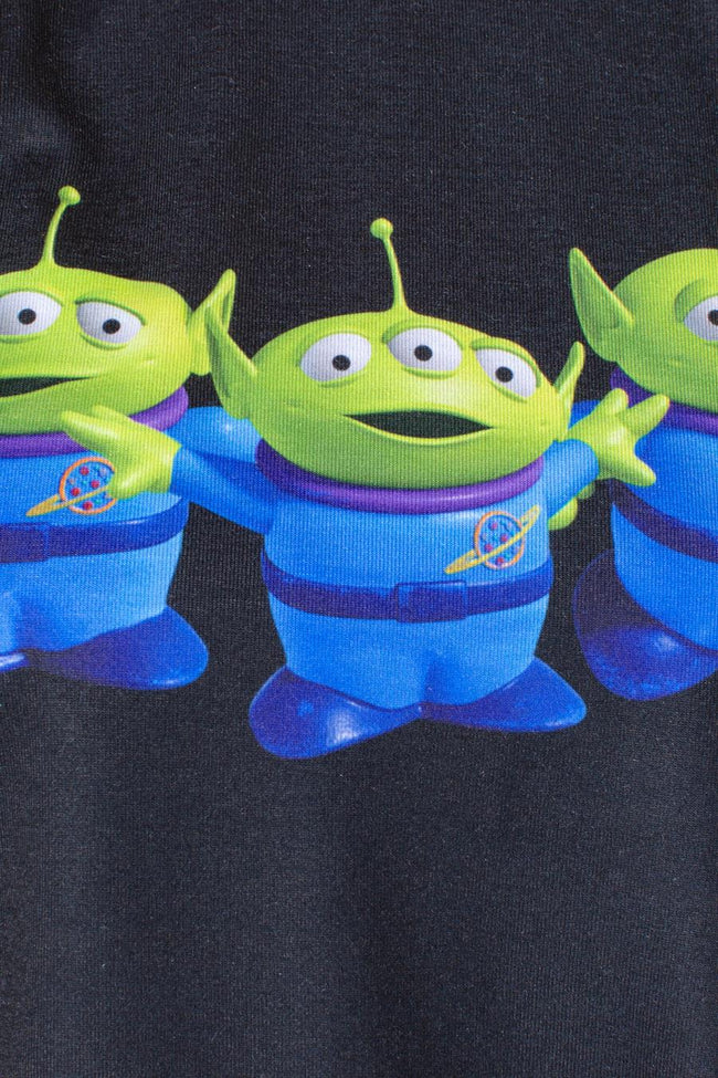 HYPE TOY STORY BLACK ALIENS KIDS CROP T-SHIRT