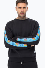 HYPE TOY STORY BLACK LOGO TAPING MENS CREW NECK