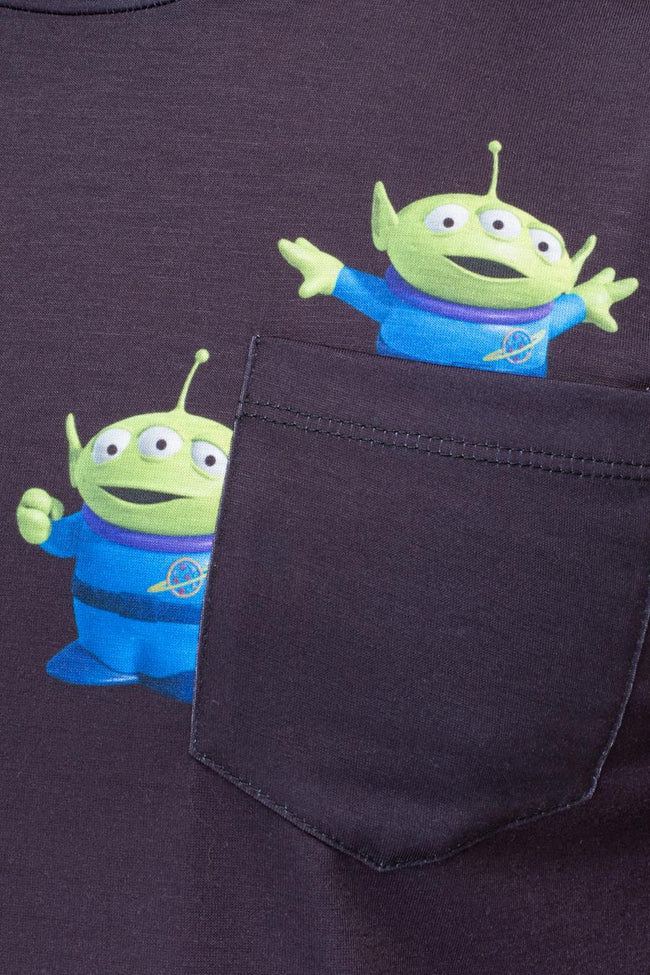 HYPE TOY STORY BLACK ALIENS POCKET MENS T-SHIRT