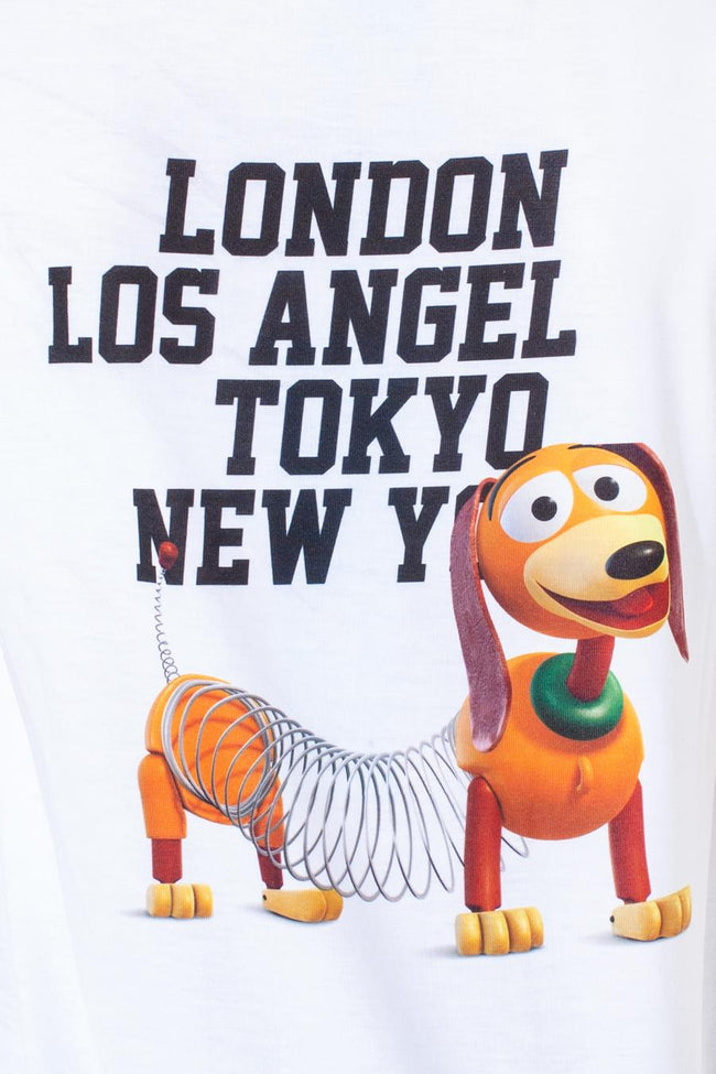 HYPE TOY STORY WHITE SLINKY CAPITAL KIDS T-SHIRT