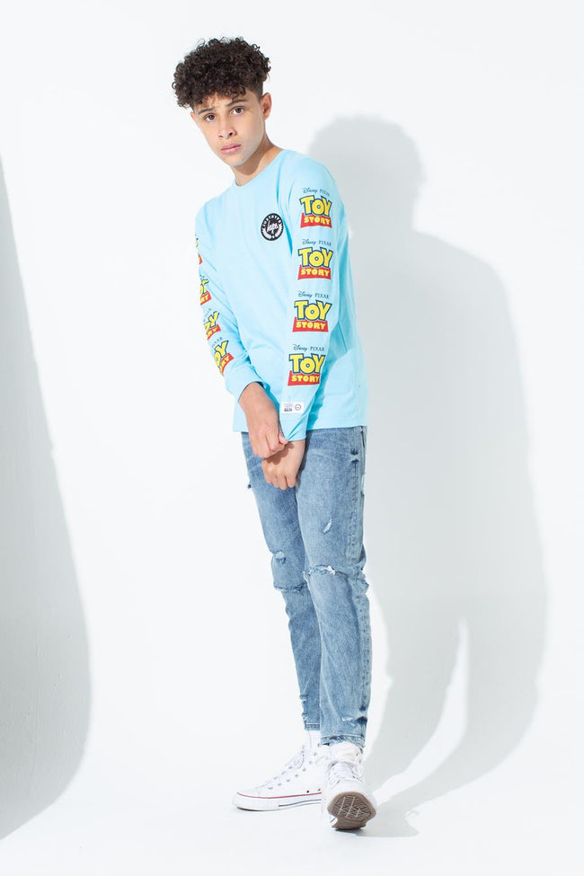 HYPE TOY STORY BLUE LOGO SLEEVE KIDS L/S T-SHIRT
