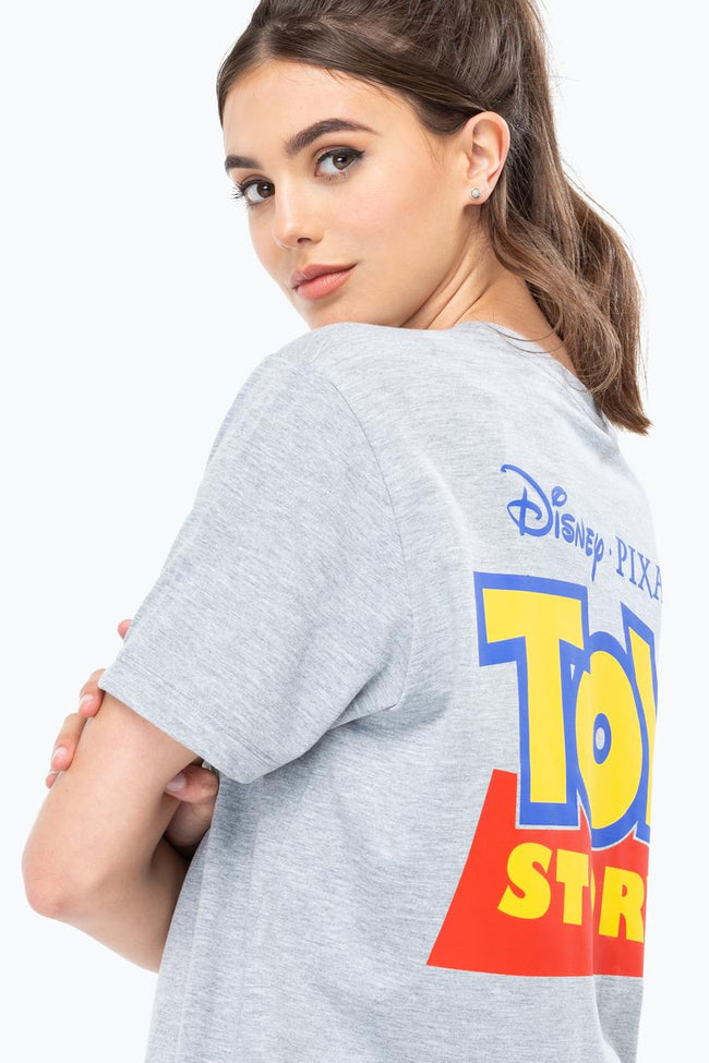 HYPE TOY STORY GREY LOGO SCRIPT MENS T-SHIRT