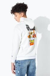HYPE TOY STORY WHITE POSTER BACK PRINT KIDS PULLOVER HOODIE