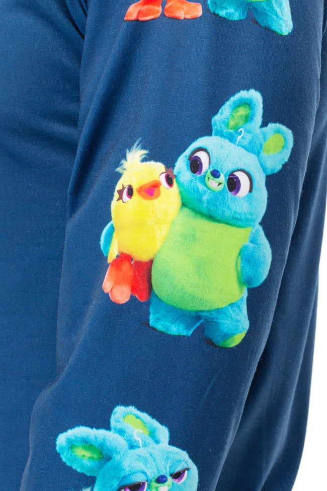 HYPE TOY STORY BLUE DUCKY BUNNY MENS L/S T-SHIRT