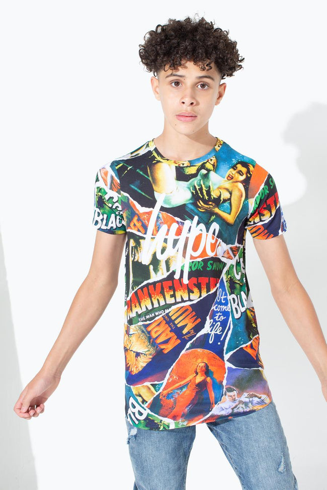HYPE UNIVERSAL MONSTERS RIPPED MONSTERS KIDS DISHED HEM T-SHIRT
