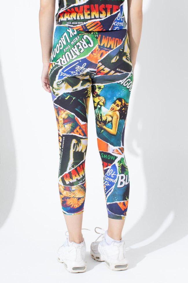 HYPE UNIVERSAL MONSTERS RIPPED MONSTER KIDS LEGGINGS