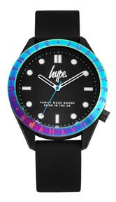 HYPE BLACK WITH IRIDESCENT BEZEL KIDS WATCH