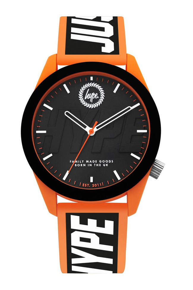 HYPE BLACK ORANGE JUSTHYPE KIDS WATCH