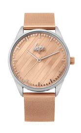 HYPE ROSE GOLD MESH WATCH