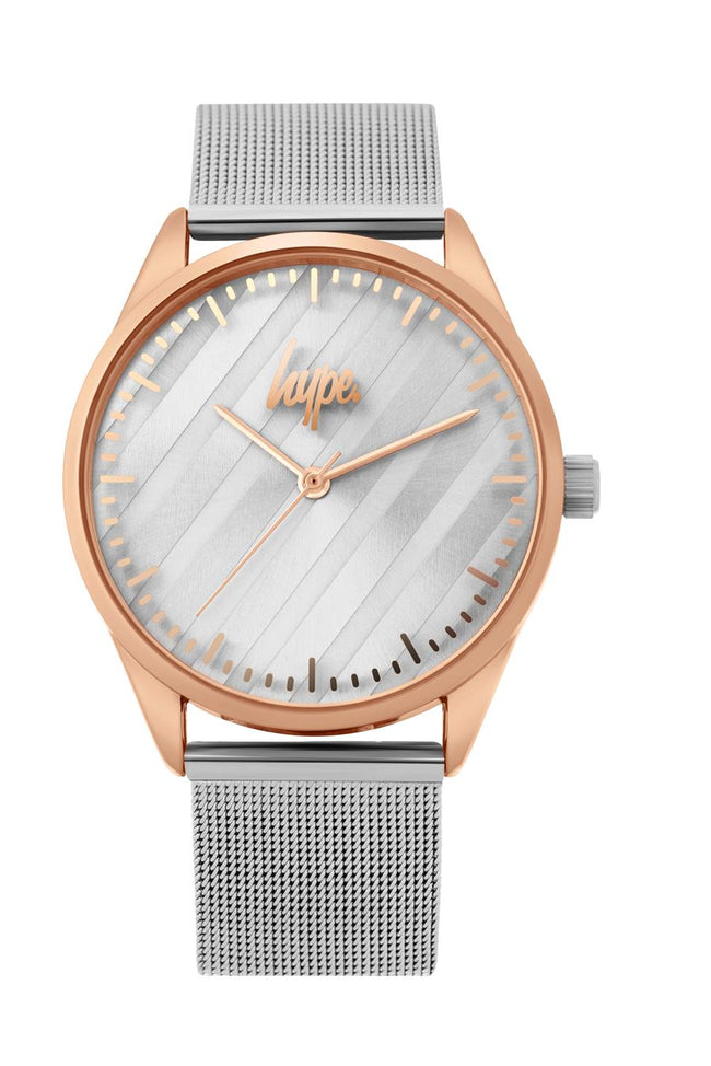 HYPE SILVER MESH KIDS WATCH
