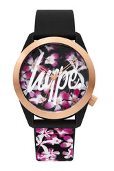 HYPE BLACK FLORAL WATCH