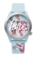 HYPE BLUE FLORAL KIDS WATCH