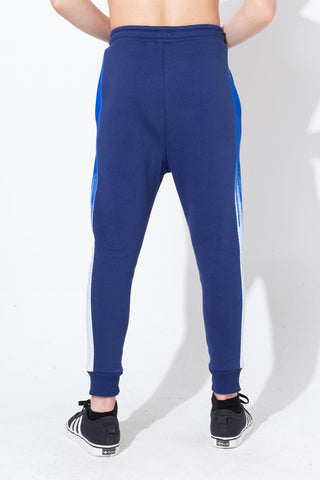 HYPE BLUE DRIP PANELLED KIDS JOGGERS