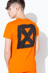HYPE ORANGE GRAFFITI BACK PRINT KIDS T-SHIRT