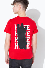 HYPE RED SCRIBBLE GRAFFITI KIDS T-SHIRT