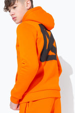 HYPE ORANGE GRAFFITI BACK PRINT KIDS PULLOVER HOODIE