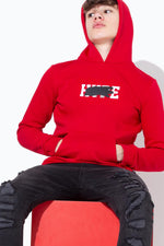 HYPE RED SCRIBBLE GRAFFITI KIDS PULLOVER HOODIE