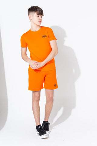 Hype Orange Script Kids Shorts