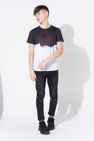 Hype Blotch Splatter Fade Script Kids T-Shirt