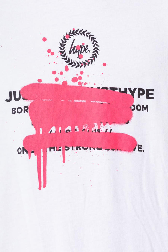 HYPE PINK SPRAY GRAFFITI KIDS T-SHIRT