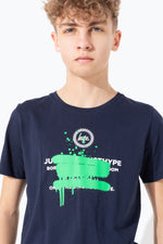 HYPE GREEN SPRAY GRAFFITI KIDS T-SHIRT