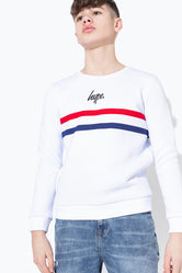 HYPE GB SPORT STRIPE KIDS CREW NECK