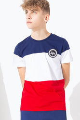 HYPE GB SPORT TRI COLOUR BLOCK KIDS T-SHIRT