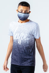 HYPE MONO SPECKLE KIDS T-SHIRT & FACE MASK SET