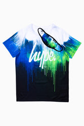 HYPE MULTI DRIP KIDS T-SHIRT & FACE MASK SET