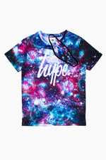 HYPE PURPLE GALAXY KIDS T-SHIRT & FACE MASK SET