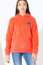 HYPE CORAL SHERPA KIDS PULLOVER HOODIE