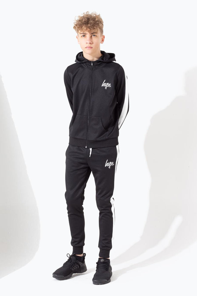 HYPE BLACK SIDE STRIPE KIDS TRACKSUIT