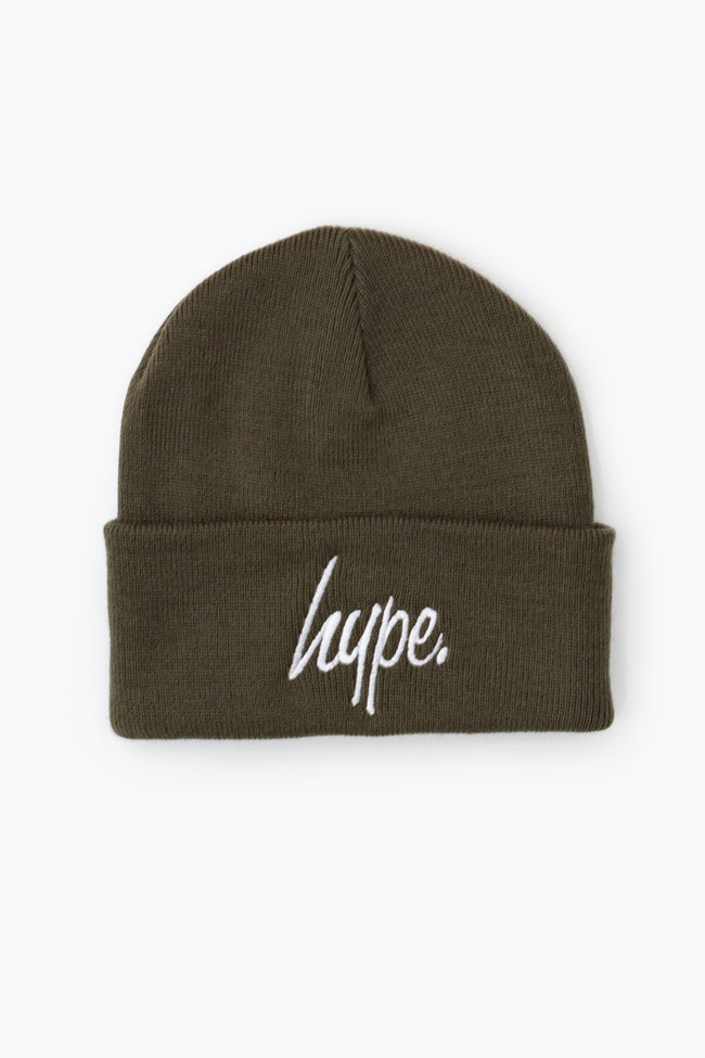 HYPE OLIVE SCRIPT BEANIE