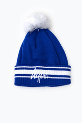 HYPE BLUE STADIUM BOBBLE BEANIE