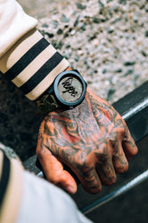 HYPE BROWN AND BLACK CRACKED MARBLE WATCH