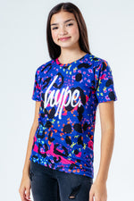 HYPE MULTI FLORAL LEOPARD KIDS T-SHIRT