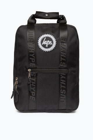 HYPE BLACK TAPED BOXY BACKPACK