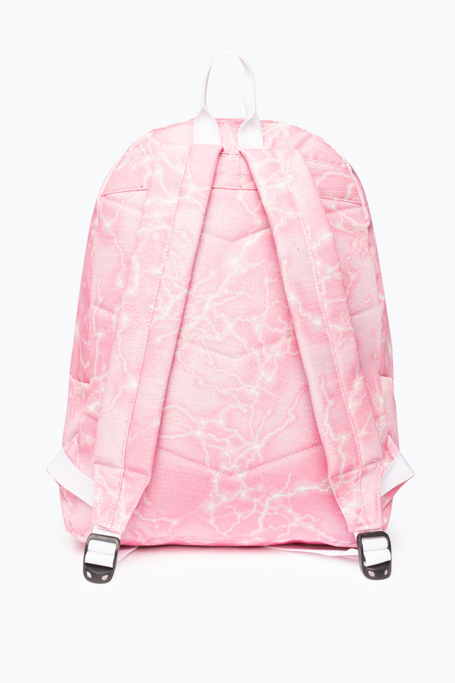 HYPE PINK MARBLE LUREX BACKPACK