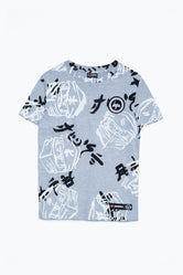 HYPE LEGO NINJAGO GREY JUST HYPE FACES KIDS T-SHIRT