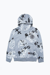 HYPE LEGO NINJAGO GREY JUST HYPE FACES KIDS PULLOVER HOODIE