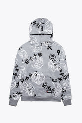 HYPE LEGO NINJAGO GREY JUST HYPE FACES ADULT PULLOVER HOODIE