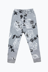 HYPE LEGO NINJAGO GREY JUST HYPE FACES ADULT JOGGERS