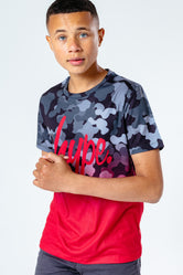 HYPE RED ABSTRACT FADE KIDS T-SHIRT