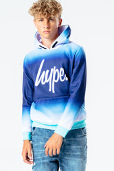 HYPE TURQUOISE FADE KIDS PULLOVER HOODIE