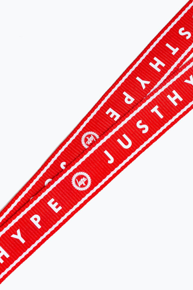 HYPE RED AND WHITE BORDER LANYARD