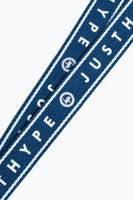 HYPE NAVY AND WHITE BORDER LANYARD