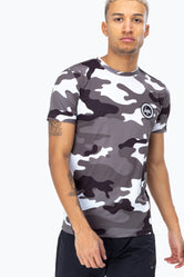 HYPE BLACK MONO CAMO MEN'S T-SHIRT