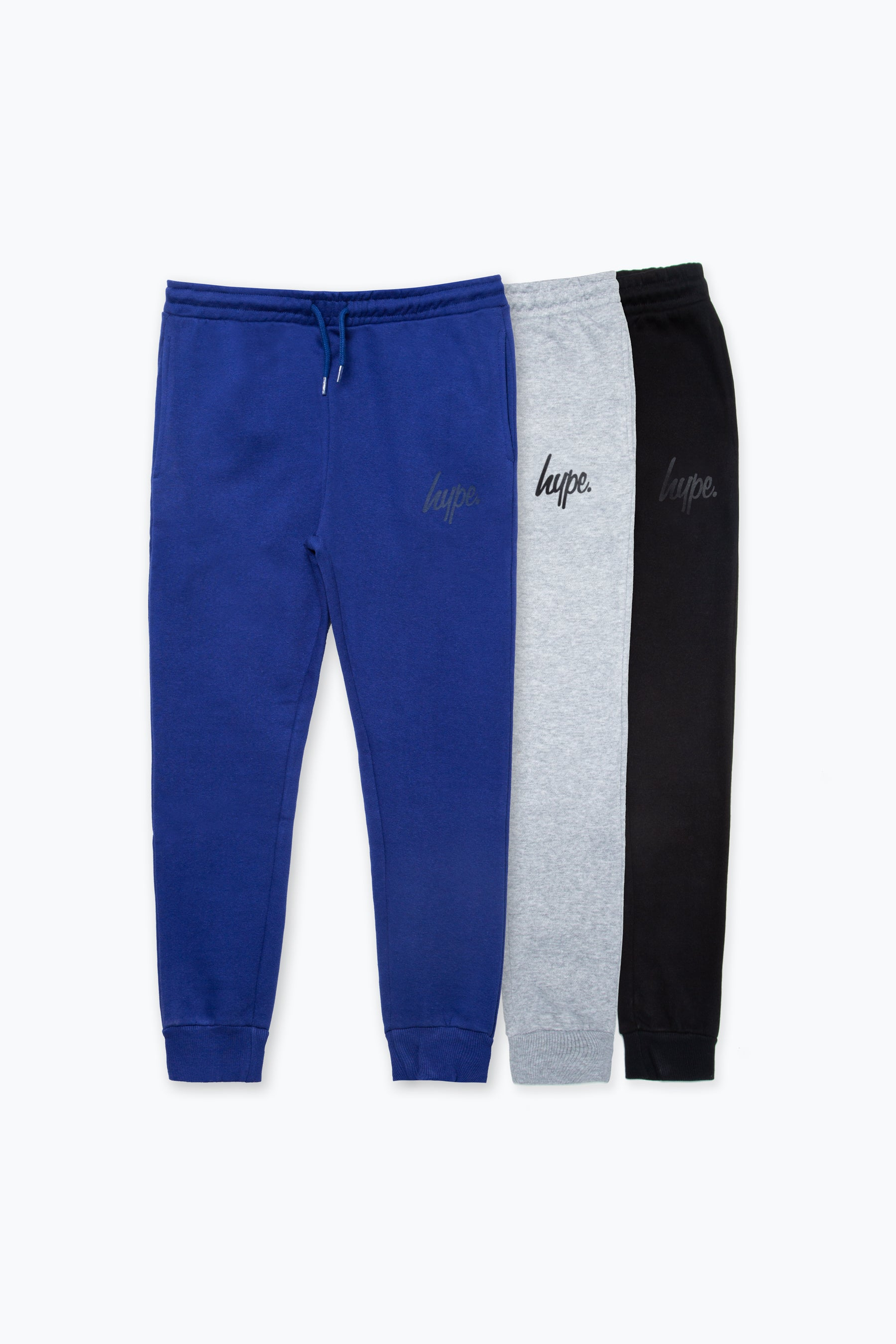 Hype Three Pack Multi Kids Black/grey/navy Joggers | Size 15Y