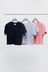 HYPE THREE PACK MULTI KIDS CROP T-SHIRT